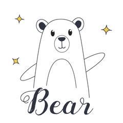 Bear illustration for t-shirt and print design