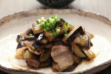 茄子と豚肉の炒め煮