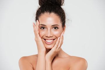 Beauty portrait of a smiling happy woman