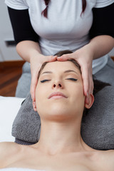 Female Enjoying Relaxing Back Massage In Cosmetology Spa Center