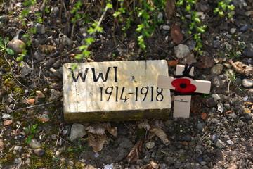 World war one 1914-1918 sign