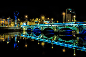 Belfast Bridge at Night