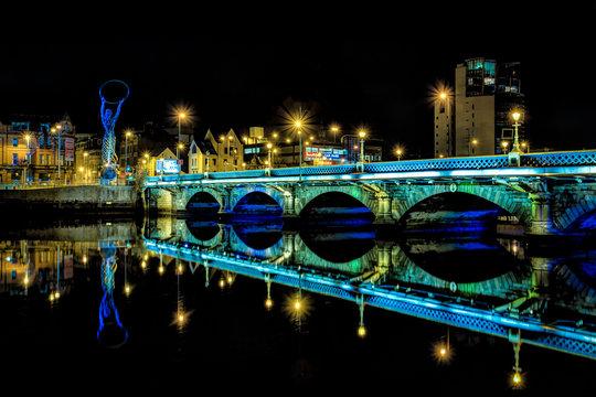 Belfast Bridge at Night