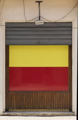 Porta bicolore con saracinesca