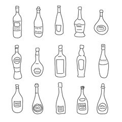 A collection of differently shaped bottles of spirits