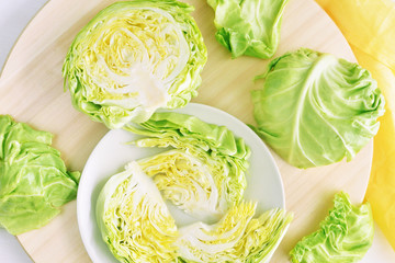 fresh chopped head of cabbage
