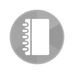 Kreis Icon - Notizblock hochkant