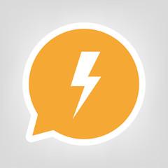 Gelbe Sprechblase - Blitz