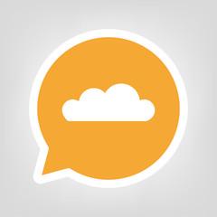 Gelbe Sprechblase - Wolke
