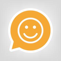 Gelbe Sprechblase - Smiley