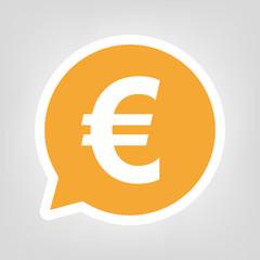Gelbe Sprechblase - Eurozeichen