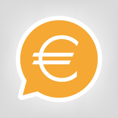 Gelbe Sprechblase - Euro