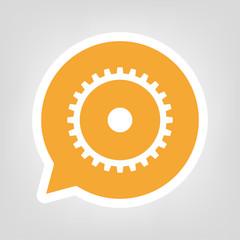 Gelbe Sprechblase - Konfigurieren