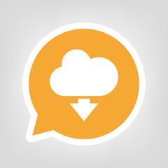 Gelbe Sprechblase - Wolke-Herunterladen-Symbol