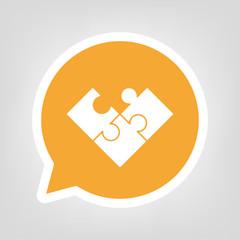 Gelbe Sprechblase - unvollständiges Puzzle