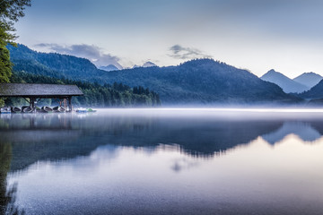 Mountail lake at dusk