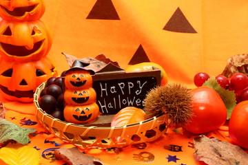 ハロウィンと秋のイメージ
