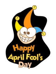 Funny Happy Joker Face - Fool Day Graphic