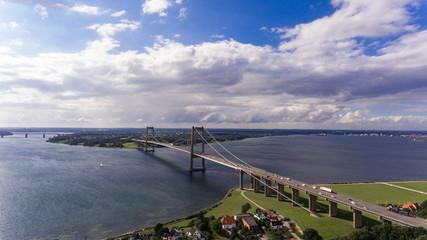 New Little Belt Bridge from drone view