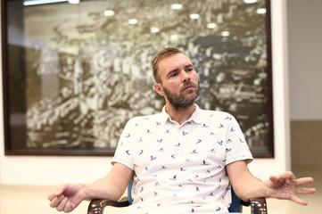 Ivan Sarar head of culture at Rijeka city council talks to Reuters in Rijeka