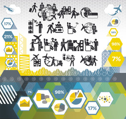 Icon Set on Business Travel Concepts