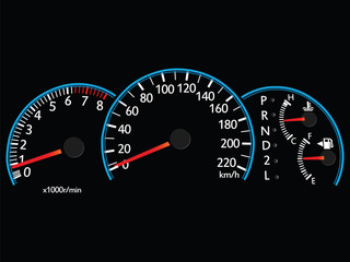 Speedometer Illustration Vector EPS 10.