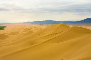 Khongor Els Sand Dune Gobi Desert Length View Atop