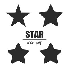 Star icon set. Star vector icons. Vector illustration