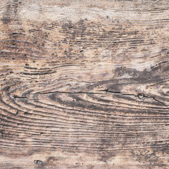 Closeup of old natural wood grunge texture. Dark surface with old natural wooden pattern. Rustic table top view with copy space for text.