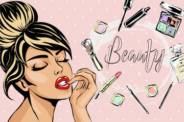 Cartoon Makeup Brush Photos Royalty Free Images Graphics Vectors Videos Adobe Stock