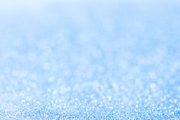 blue abstract blurred glitter Bokeh background