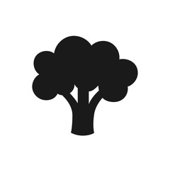 Broccoli icon isolated on white background. Broccoli vegetable. Vector stock.