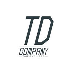 Initial Letter TD Design Logo Template