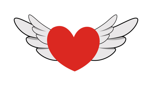 Flying Heart with Wings