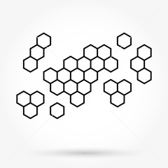 Honeycomb background texture