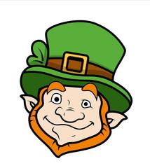 Cartoon Leprechaun Character Face