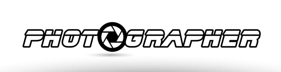 photographer photography camera aperture text concept logo icon design