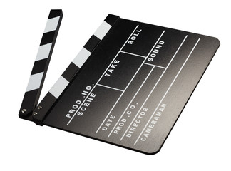 Clapperboard for film photography