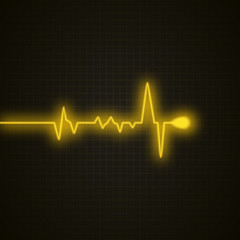 Medical background with heart cardiogram. Heart pulse isolated. Vector background.