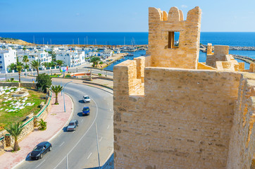 The towers of Ribat in Monastir