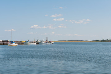 Fishing boats  and dock