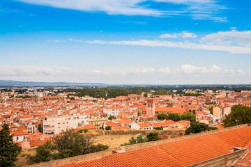 Vue de Perpignan depuis le Palais des Rois de Majorque