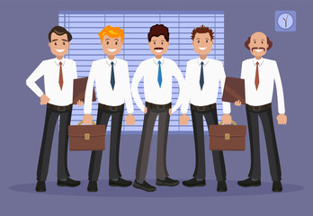 Vector illustration of office staff.