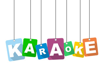 Colorful vector flat design background karaoke. It is well adapted for web design.