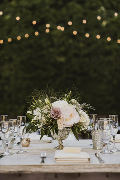 Dinner Party with bright decor