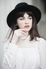 Portrait of fashionable young woman