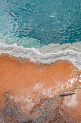 Rust colored bacteria and aqua pool