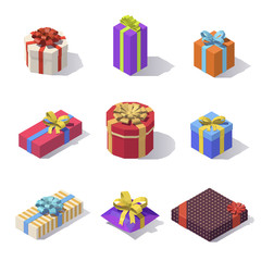 Lowpoly gift boxs decorations