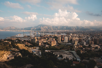 View of Palermo city from Mount Pellegrino