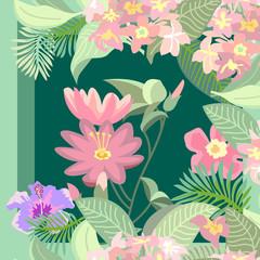 Lotus tropical garden.